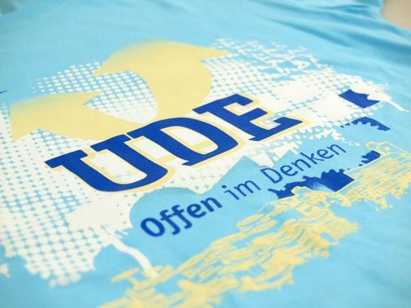 T-Shirt UDE Damen hellblau