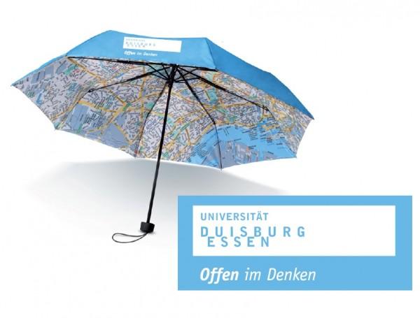 Regenschirm mit Stadtplan
